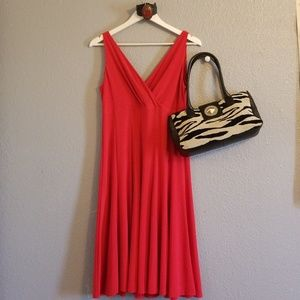 American Living Red Swing Dress